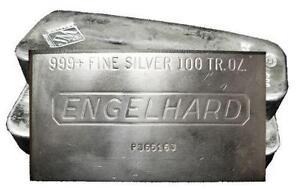 100 Oz Engelhard Silver Bars