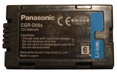 Panasonic CGR-D08 Batteria NUOVA ORIGINALE PANASONIC per Video Camera usato  Capriolo