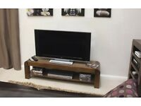 TV Stand - Low Widescreen TV Unit, Solid Walnut, Brand New