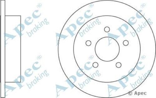 1x OE Quality Replacement Rear Axle Apec Solid Brake Disc 5 Stud 285mm - Single