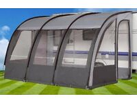 Crusader Denver 390 Lightweight Caravan Porch Awning - Charcoal # V707 - Height 235 - 250cm NEW