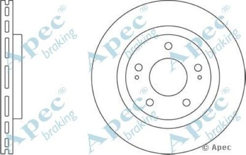 1x OE Quality Replacement Front Axle Apec Vented Brake Disc 5 Stud 285mm Single