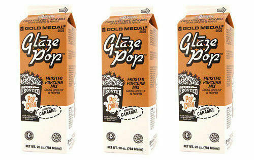 Glaze Pop, Frosted Caramel Popcorn Flavoring, Gold Medal Product 2525, 3 Cartons