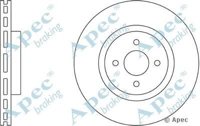 1x OE Quality Replacement Front Axle Apec Vented Brake Disc 4 Stud 324mm Single