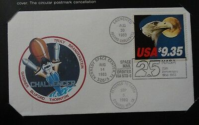 1983 SHUTTLE CHALLENGER STS-8  COVER  w/ NASA FOLDER  - FLOWN IN SPACE