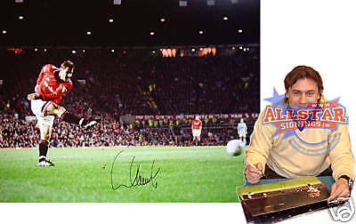 "ANDREI KANCHELSKIS SIGNED MANCHESTER UNITED 16""x12"" PHOTOGRAPH SEE PROOF"