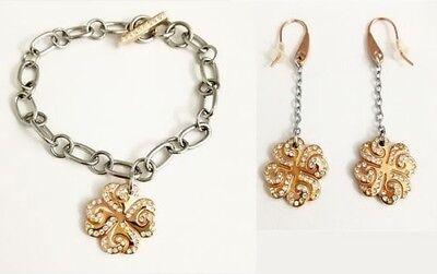 2Jewels Set Bracelet + Women's Earrings Four-leaf clover Italian Design 231131 Italian Set Earrings