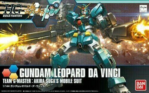 HGBF 1/144 Build Fighter Gundam Leopard Da Vinci Model Kit Bandai