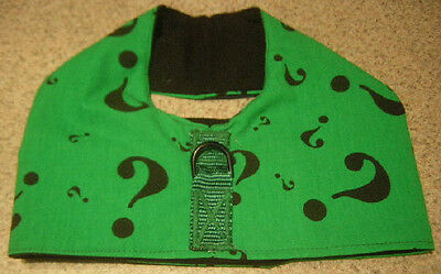 GREEN JOKER QUESTION ? MIN PIN POODLE MALTESE ITALIAN GREYHOUND DOG HARNESS VEST (Green Joker Vest)