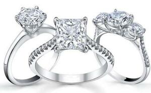 ALL DIAMOND ENGAGEMENT RINGS 10K 14K 18K ON SALE NOW 50% PLUS OFF!!!!!!!!!