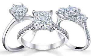 ALL DIAMOND ENGAGEMENT RINGS 10K 14K 18K ON SALE NOW 50% PLUS OFF!!!!!!!!!