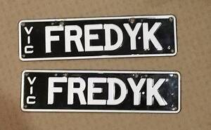 """FEDYK"" Victorian Number Plates (Freddy Krueger) Bethania Logan Area Preview"