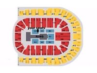 WWE LIVE TICKETS x2 GREAT RINGSIDE SEATS Blk C2 row D London o2 Arena Wed 7th Sept £220