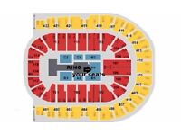 WWE LIVE Tickets 2 or 4 Blk B2 Row F London o2 Arena Wed 7th Sept £399 a pair