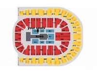 WWE LIVE Tickets x6 BEST seats Block C2 row D London o2 Arena Wed 7th Sept £150 each