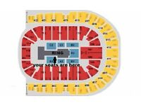 WWE LIVE Tickets x3 AWESOME BARRIER SEATS Blk A1 row F o2 Arena London Wed 7th Sept £360