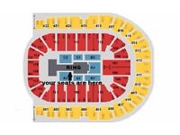 WWE LIVE Tickets x3 AWESOME SEATS Blk A1 row F London o2 Arena Wed 7th Sept £300