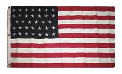 5x8 Embroidered Sewn USA American 34 Star Linear 600D Nylon Flag 5'x8'