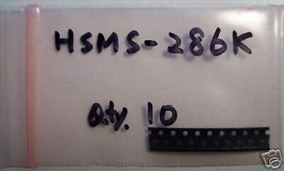 Avagoagilent Microwave Detector Diode Hsms-286k Dual Sot-363 10pcs