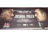 2x Anthony Joshua vs Carlos Takam tickets (pulev)