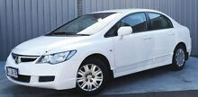 2008 Honda Civic 8th Gen MY08 VTi White 5 Speed Automatic Sedan Invermay Launceston Area Preview