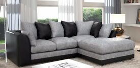 Guaranteed Price !!**- Byron Jumbo Cord Corner Sofa Suite - SAME/NEXT DAY DELIVERY