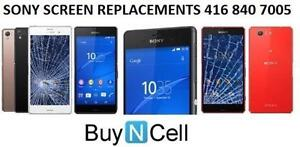ALL SONY XPERIA SCREEN REPLACEMENTS + 3 MONTHS OF WARRANTY
