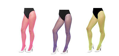 Neon Fishnets Pantyhose Fishnet Fish Net Tights Pink Green Purple Adult Nylon - Purple Fishnet Tights