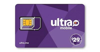 Ultra Mobile $29 Multi-Month Plan for 6 Months with Triple punch SIM Card