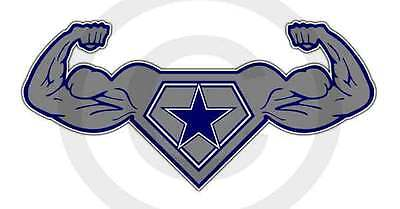 Dallas Strength Sticker Texas Power Decal Lone Star State Cowboy Up Size Large](Dallas Cowboy Star)