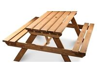 Agad Wooden 6 Seater Picnic Table NEW
