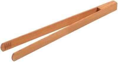 Holz Grillzange Küchenzange Salatzange Anti-Pasti-Zange aus Kirschholz 30cm