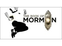 2 TICKETS TO BOOK OF MORMON THIS EVENING 21/9/17