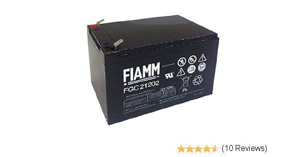 FIAMM FGC21202 BATTERIA CICLICA PIOMBO 12V 12Ah BICI ELETTRICA VEICOLI ELETTRICI