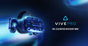 HTC Vive Pro + Controllers + Base Stations + Stands