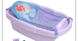 Little mermaid bath with sling and toys