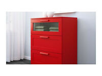 ikea red chest of drawers