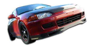 95 Civic Carbon Fiber - 92-95 Honda Civic 2DR Spoon Style Carbon Fiber Front Bumper Lip Body Kit 102728