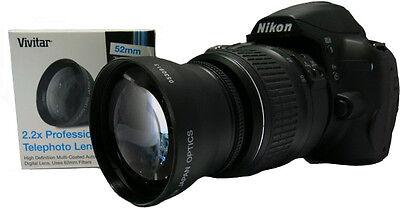 52MM 2.2x HD Telephoto Zoom Lens for Nikon AF-S DX Nikkor 18-55mm 55-200mm