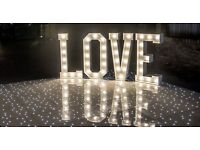 Love letters, White L.E.D dance floor, White & Red Royal Mail Post Boxes, Themed nights + Lots More