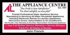 ***The Appliance Centre*** **FREE** Estimate Appliance Service