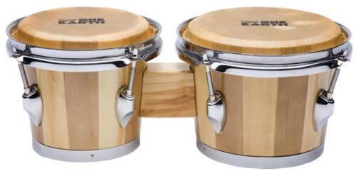 """Union UB1 One Earth Wood Shell Bongo Drums  6"""" and 7"""" Natural Hide Heads"""
