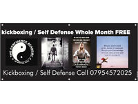 Kickboxing / Self Defense Whole Month FREE Leicestershire