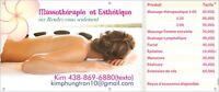PROM DUO: Facial complet et massage (1h) : 90$