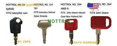 Key Set 10 4 Pc Key Fits Cat 5p8500 John Deere H800 Redjds Komatsu 787