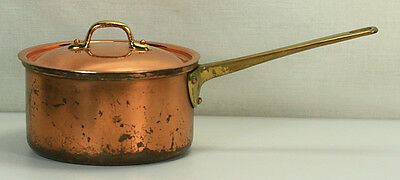 VINTAGE MADE IN PORTUGAL COPRAL 3 CUP COPPER POT WITH LID