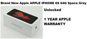 Brand New Apple APPLE IPHONE 6S 64G Space Grey Unlocked +1 year