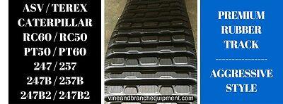 Pair Of Aggressive Style Premium Rubber Tracks Asv Terex  Pt50 Pt60
