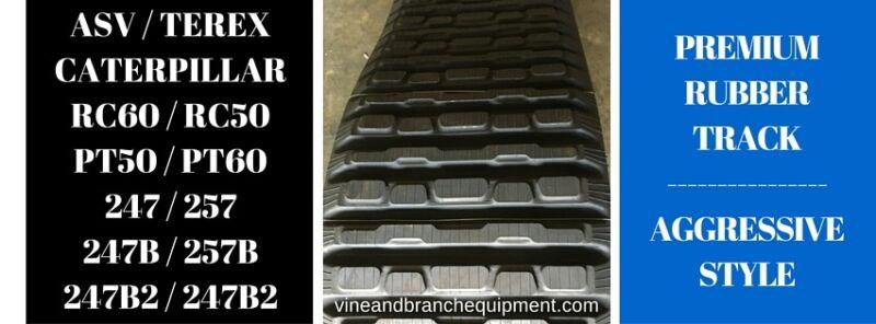 Pair Of Aggressive Style Premium Rubber Tracks  Asv / Terex  /  Pt50 / Pt60