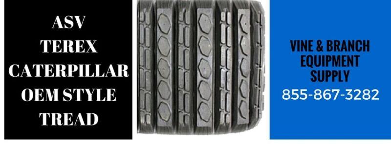 2 X Premium Rubber Track Caterpillar 277c / 287c / 297c (tread A)